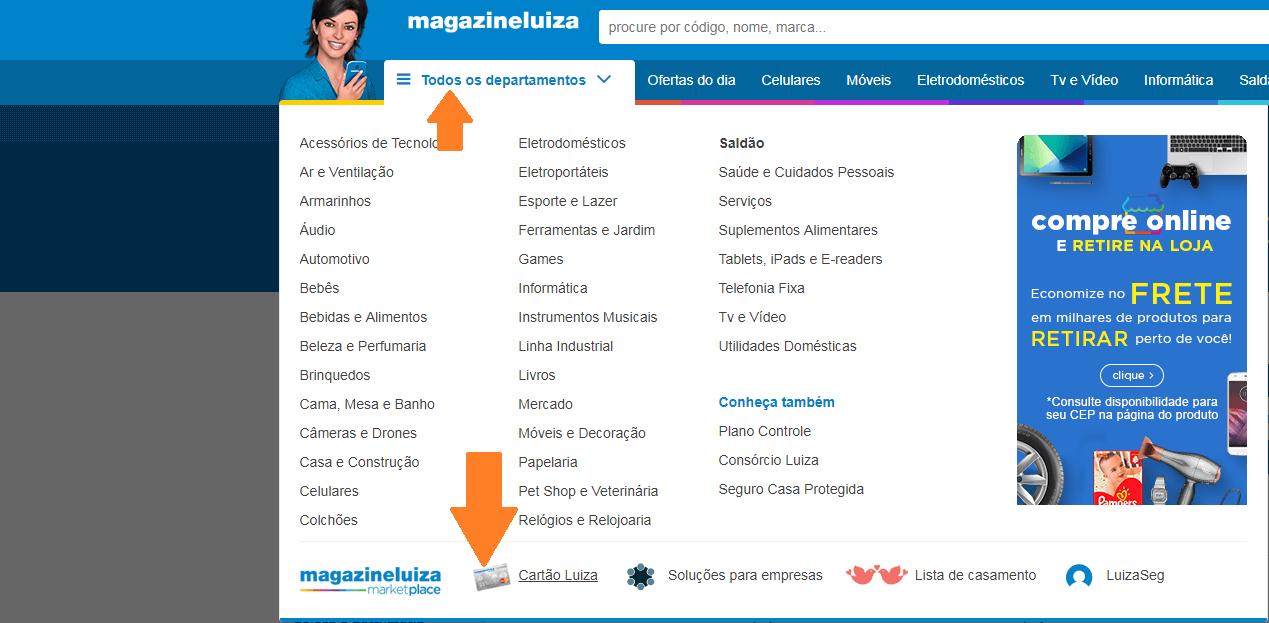 Pedir Cartão Magazine Luiza