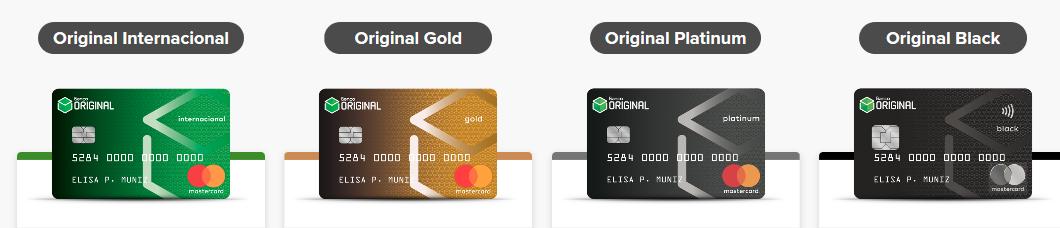 cartões banco original
