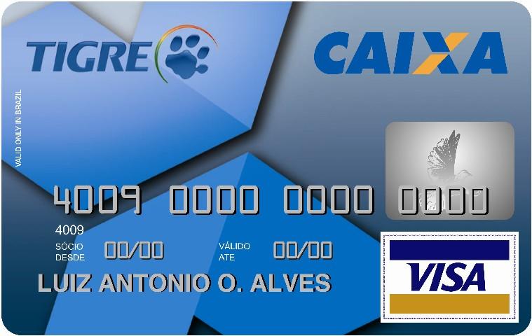 Cartão de crédito Caixa Tigre Visa nacional